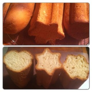 Canape bread molds: fun for making appetizer bread, finger sandwiches, or gift loaves.