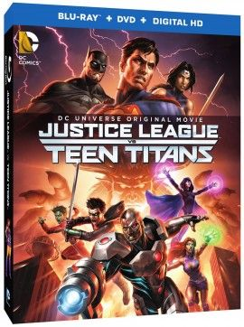 Justice league vs teen titans box art