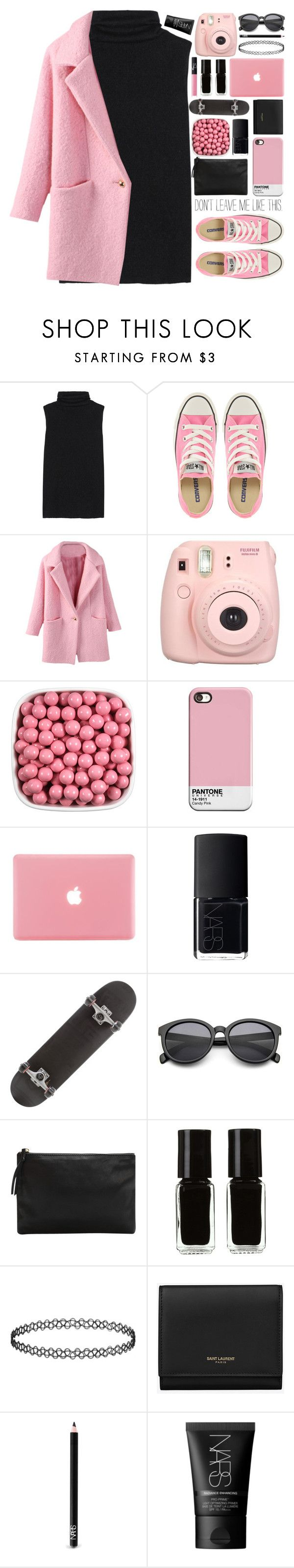 """."" by untake-n ❤ liked on Polyvore featuring The Row, Converse, Fujifilm, NARS Cosmetics, MANGO, The New Black, Topshop and Yves Saint Laurent"