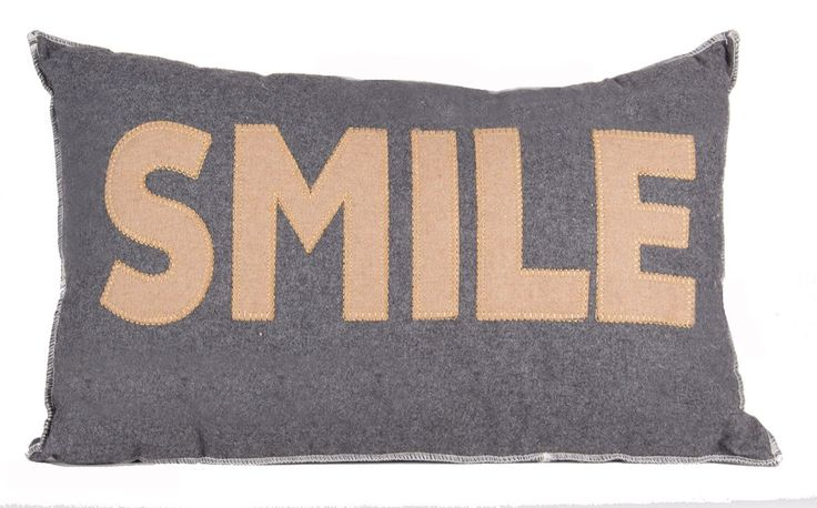This #GREY & #BROWN #FABRIC #SMILE #DESIGN #LONG #SCATTER #Cushion is a soft charming touch to any #Bed #BigLivingUK http://www.bigliving.co.uk/grey-brown-fabric-smile-design-oblong-scatter.html