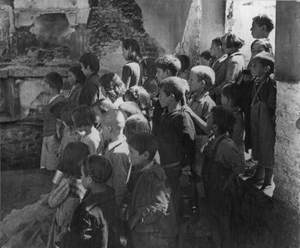 Soup kitchen in Greece.  Date: ca. 1946