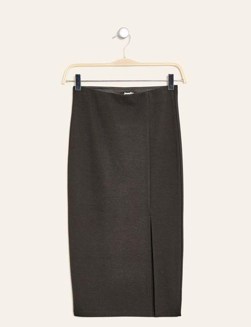 jupe tube fendu noire