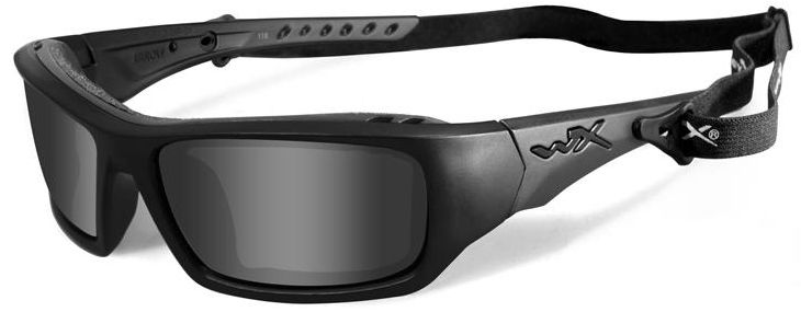 Wiley X WX Arrow Black Ops Safety Sunglasses with Matte Black Frame and Grey Lens