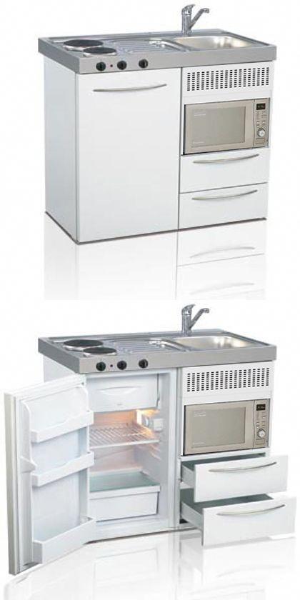 Mini kitchen, compact kitchen, small kitchen, space saving kitchen