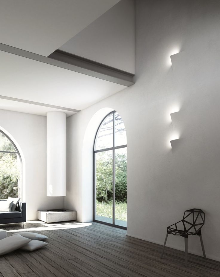 ♂ Minimalist modern interior design home T-Ark Collection: LEAF - LED semi-recessed wall fixtures, by Andrea Sensoli