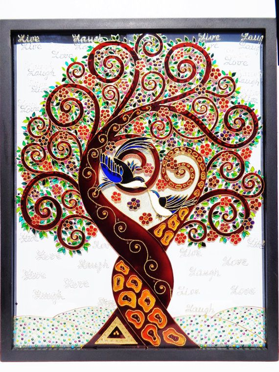 Tree Of Love Art 17 Quot X21 Quot Love Tree Tree Of Life Art Glass