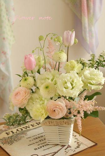 【今日の贈花】四十九日のお悔み花 Flower note の 花日記 (横浜・上大岡 アレンジメント教室)