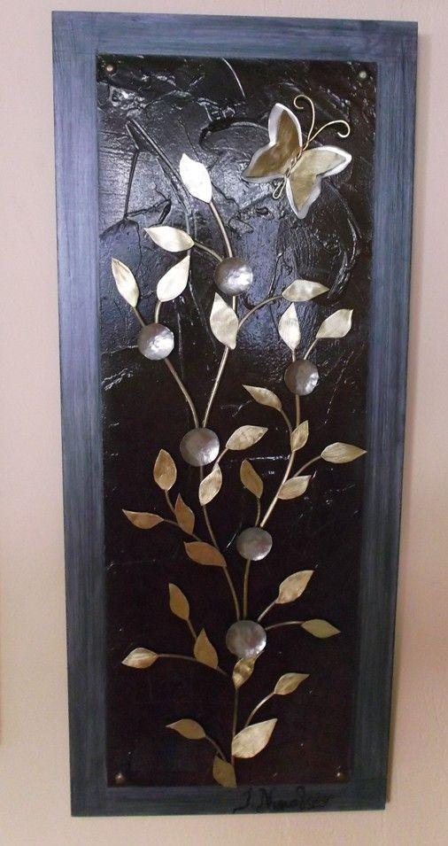 πινακας 61Χ25 μεταλλο ξυλο μπρουτζοσ αρζαντο