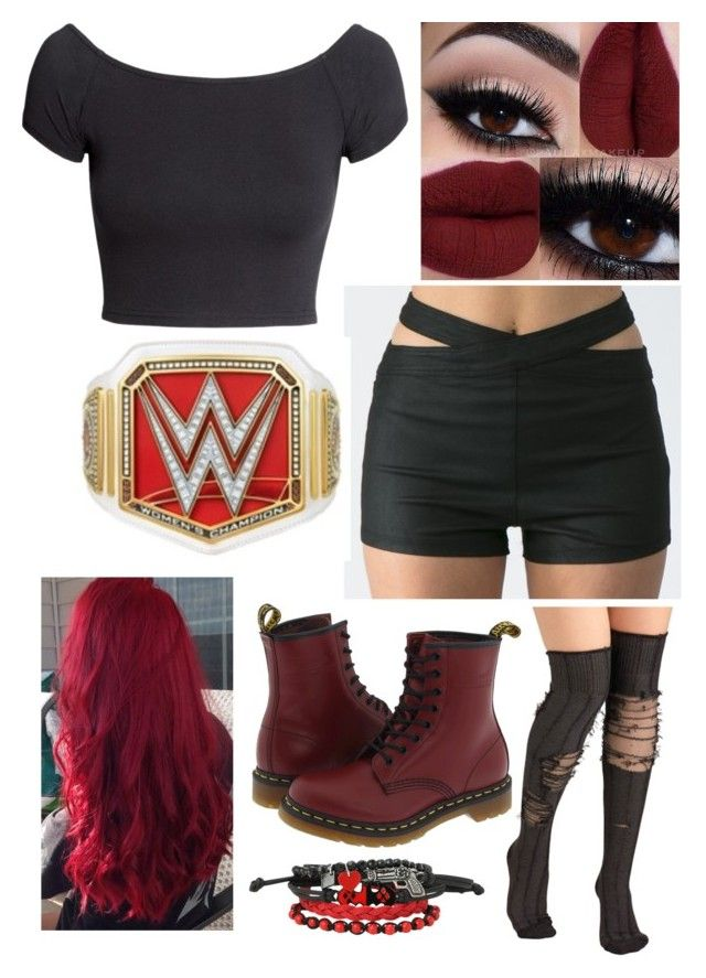 """""""WWE DIVA RING GEAR"""" by kdicks on Polyvore featuring H&M and Dr. Martens"""