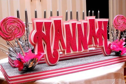 name centerpiece party planning pinterest