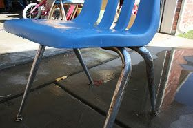 Feed the Birdies: Removing rust from chrome school chairs for a cute dining set