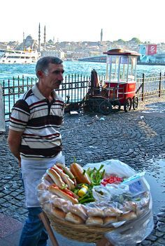 Street food in Istanbul , Turkey