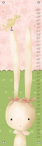 Oopsy daisy Sweet Bunny Growth Chart by Meghann O'Hara, 12 by 42 Inches by Oopsy daisy, Fine Art for Kids. $40.73. Childrens growth chart featuring a long-eared rabbit and a balancing birdie. Our kid's growth charts are created on the same artists canvas as our stretched wall art. Grommets placed in the four corners make them easy to hang. We provide color coordinated decorative covers that easily fit over the screw or nail you choose. This product creates a great child...