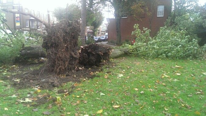 What #ukstorm left behind in #London