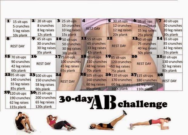 Auf geht´s Leute, macht mit bei 30 Tage Bauch Challenge  Ich verspreche euch, wird ne spannende Zeit.  Und macht unbedingt für euch selbst ...