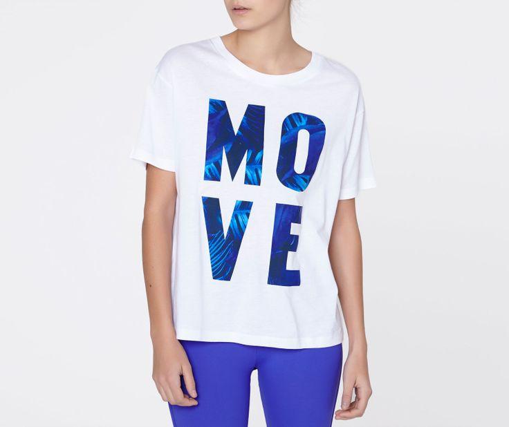 Camiseta manga corta texto - OYSHO