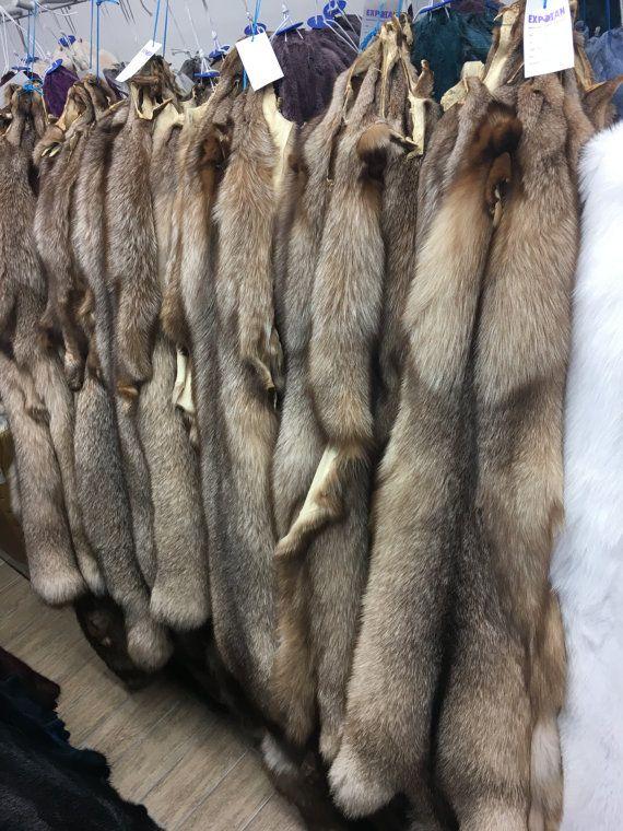 Fox fur pelts/skins different collors by skffurs on Etsy