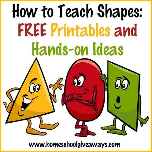 How to Teach Shapes: FREE Printables and Hands-On Ideas