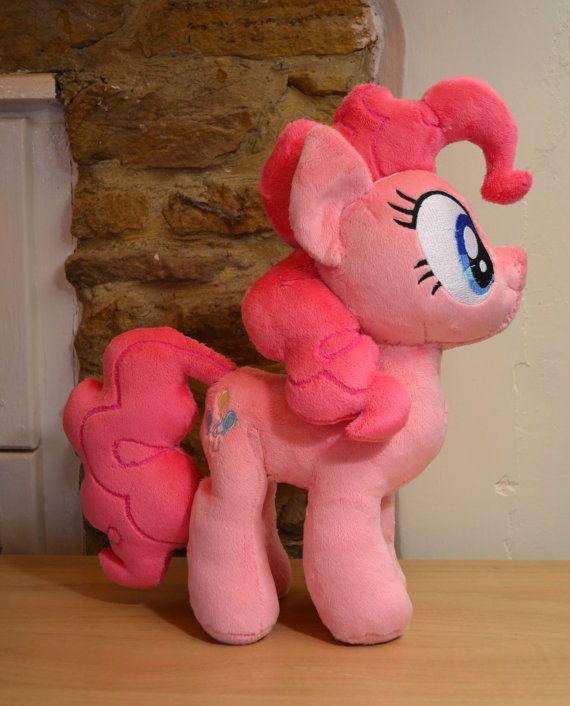 Pinkie Pie plush My Little Pony Plushie by PulsefireKitten on Etsy, £75.00