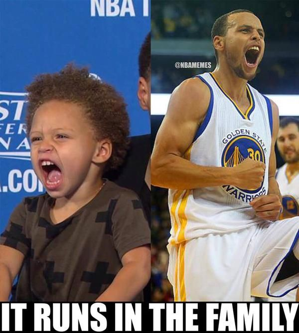 Steph Curry and his daughter, Riley! #Warriors - http://nbafunnymeme.com/nba-memes/steph-curry-and-his-daughter-riley-warriors