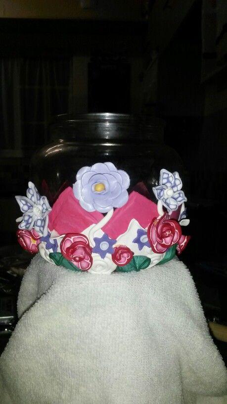 Polymer Clay Flower Bottle