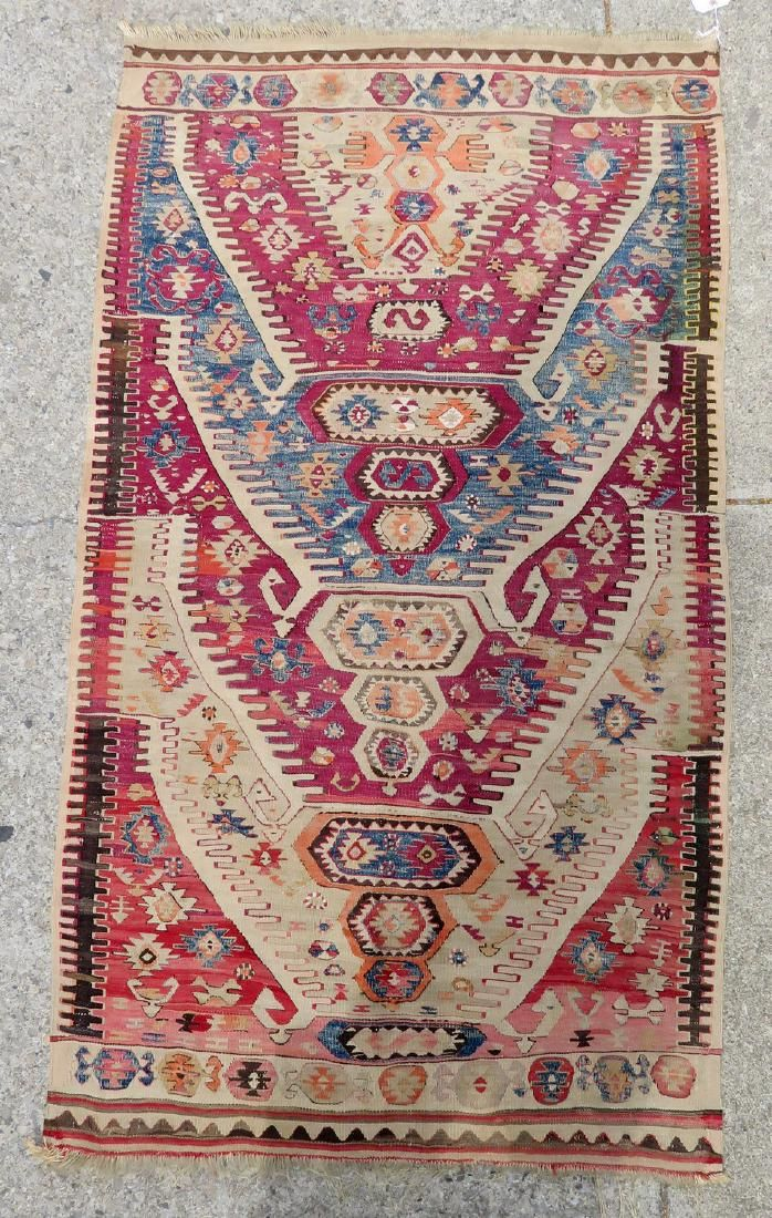 "Kilim scatter rug – 5' 10"" x 3' 2"" – very good"
