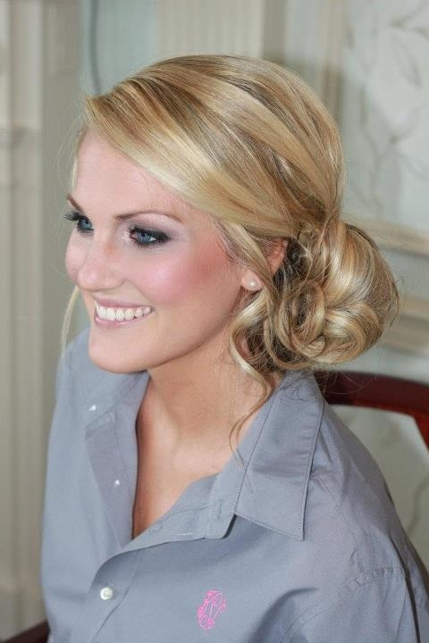 side chignon #bridesmaidshair hair by natalia issa #nataliaissa www.nataliaissa.com