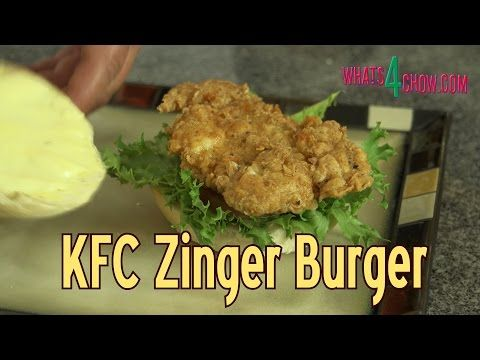 KFC Zinger Burger. KFC Secret Recipe Zinger Burger - How to Make KFC at Home!!!