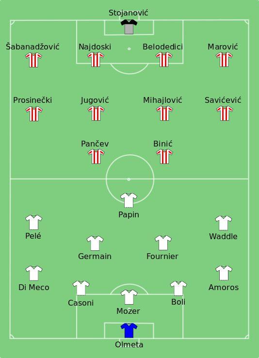 29 May 1991, Stadio San Nicola, Bari, Fk Crvena zvezda Beograd 0–0 (a.e.t.) Penalties 5–3 Olympique de Marseille