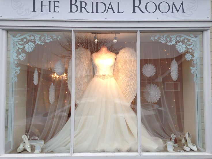 Christmas window. The angel wings are back!!