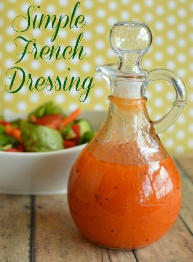 Einfaches French Dressing | Köstliche hausgemachte Salatsoße Rezepte | Balsamico-Sa …   – dressing for salads