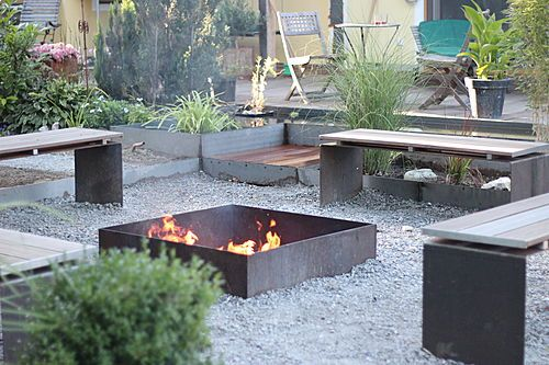 garten feuerstelle industrie stil garden pinterest outdoor fire places outdoor fire and. Black Bedroom Furniture Sets. Home Design Ideas