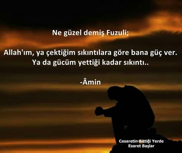 Amin inşaallah. #fuzuli #dua