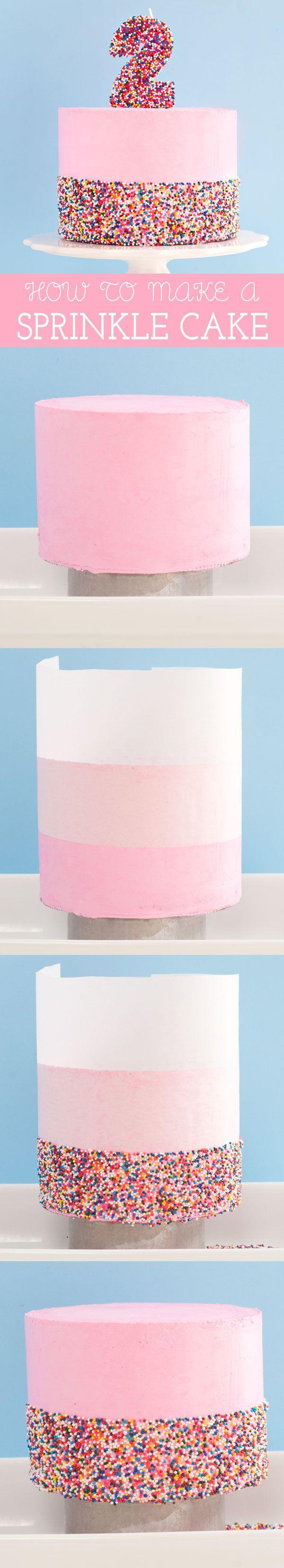 How To Make A Sprinkle Cake   Sprinkles for Breakfast