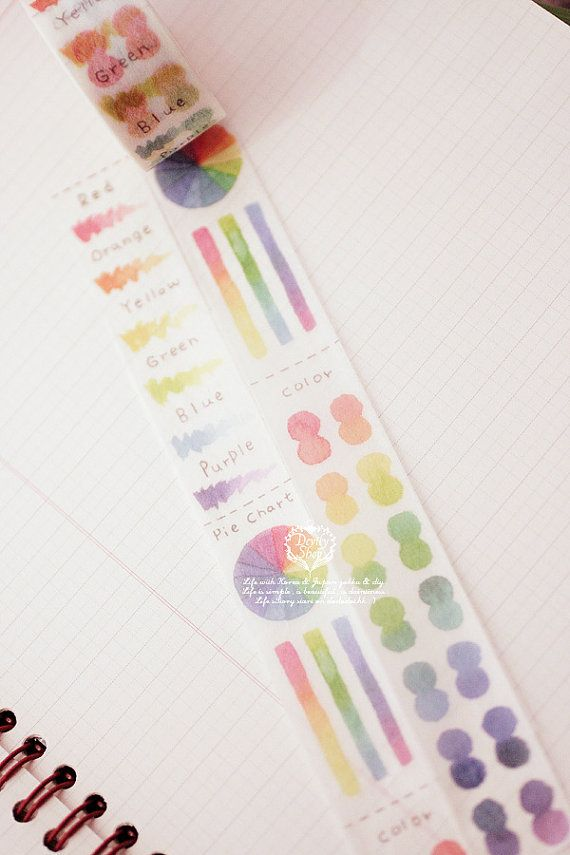 Rainbow Color Wheel Washi tape from forlapin on etsy!