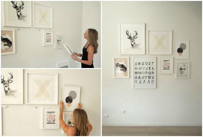 17 mejores ideas sobre decoraci n de la pared del ba o en - Composicion de cuadros ...
