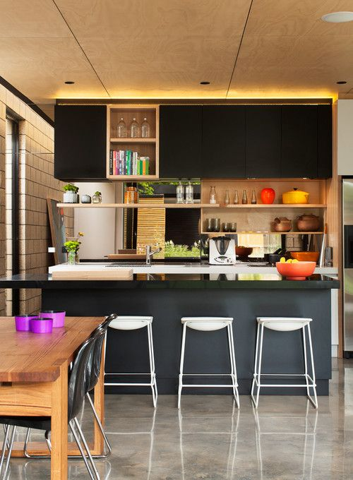 """Airy (and user-friendly), open shelving. """"We are seeing a trend toward using open shelving as a practical solution for the kitchen space, rather than simply for display"""""""