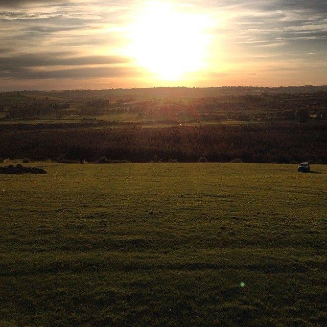 Grand fine evening. Sunset in Ireland.