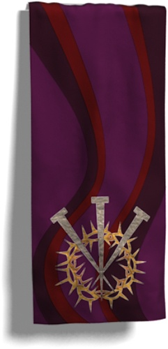 The Final Hours - Lent Banner by Ecclesiastica Design Studio. Buy this pattern