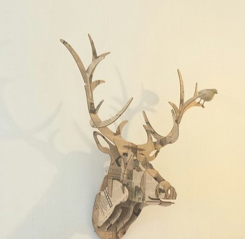 Stag Trophy wall decor. Made in NZ. From the Bird of Prey gift shop.