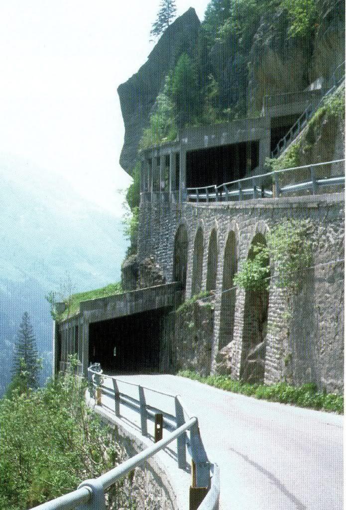 Tunnels Splugen pass, Italy