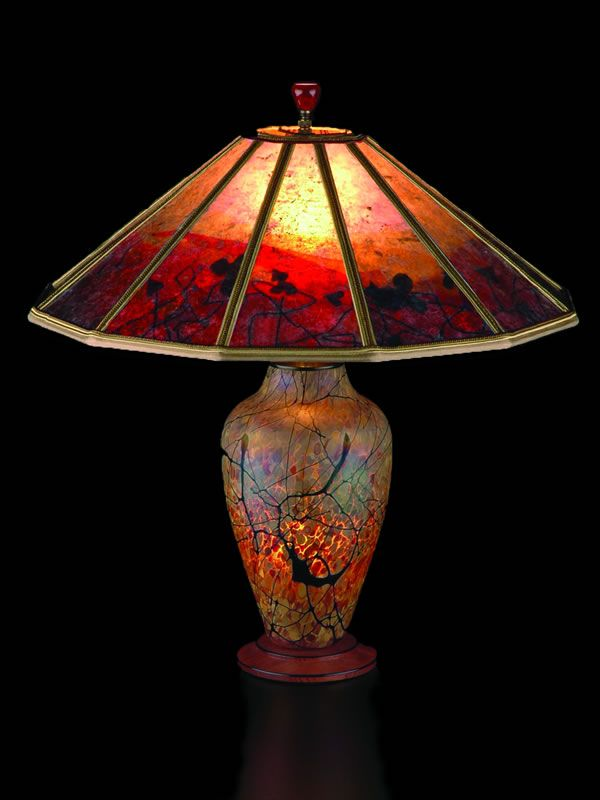 Beautiful example of mica lamp-work done almost in a stained glass style. By Sue Johnson. by jimmie