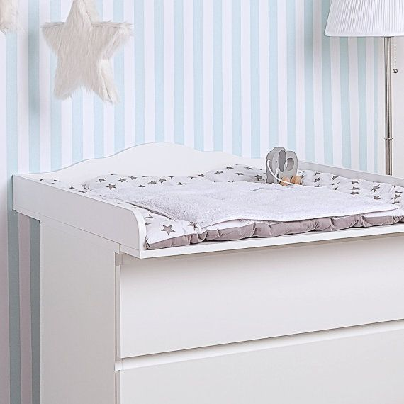 Elegant Cloud 4 Changer, Changing Table Top In White For All IKEA Malm Dressers  With A