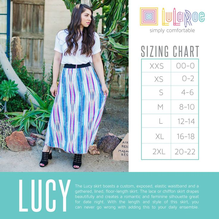 lularoe lucy size chart 2017