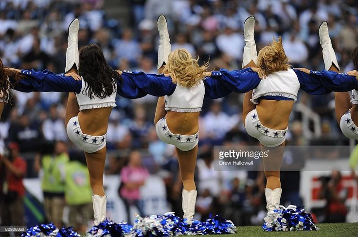 Dallas Cowboys cheerleaders dance during the game against the Philadelphia…