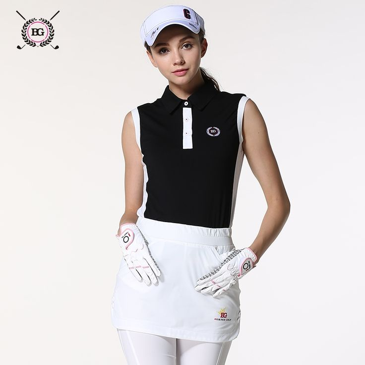 42.90$  Watch here - http://alifui.worldwells.pw/go.php?t=32706267232 - 2016 new girls golf clothes women's sports golf shirt sleeveless turndown collar golf training shirts summer clothing top shirt 42.90$