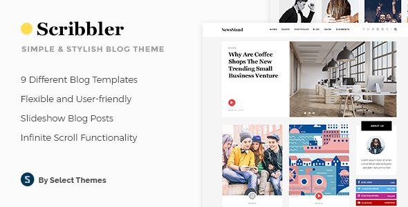 Scribbler - A Simple WordPress Theme for Blogs and Magazines
