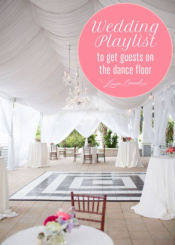 Tuesday Ten: The Best Wedding Reception Songs (really I'm just pinning because i want that draped ceiling!)