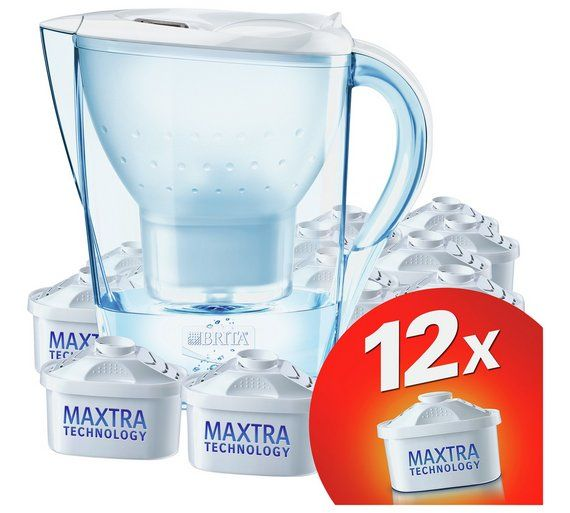 Buy BRITA Marella Water Filter Jug and 12 Cartridges - White at Argos.co.uk - Your Online Shop for Water jugs and filters, Kitchenware, Cooking, dining and kitchen equipment, Home and garden.