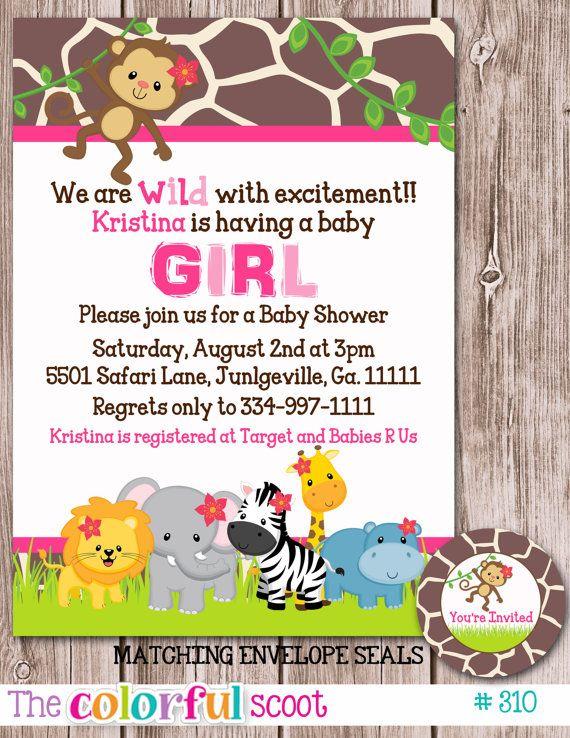 Safari Baby Shower Invitation Baby Shower Invite Baby Shower
